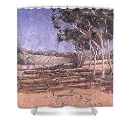 I Wish You Sun Shower Curtain by Valerie Douglas