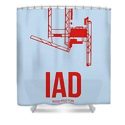 Iad Washington Airport Poster 2 Shower Curtain by Naxart Studio