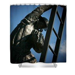 Iaff Fallen Firefighters Memorial  2 Shower Curtain by Susan  McMenamin