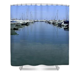 Ibiza Harbour Shower Curtain