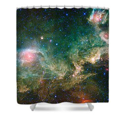 Ic 2177-seagull Nebula Shower Curtain by Science Source