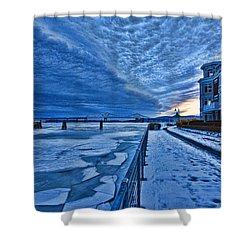 Ice Station Hudson Shower Curtain