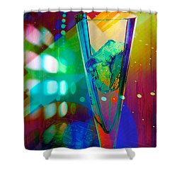 Ice-2 Shower Curtain by Mauro Celotti