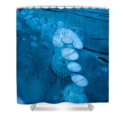 Ice Arrow Shower Curtain
