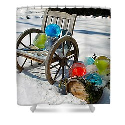 Shower Curtain featuring the photograph Ice Ball Art by Nina Silver