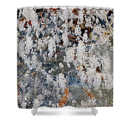 Ice Bubbles  Shower Curtain