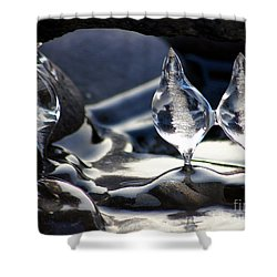 Ice Bulbs Shower Curtain
