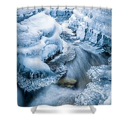 Ice Cathedral Shower Curtain