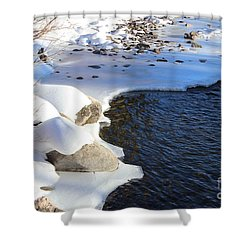 Ice Cold Water Shower Curtain by Fiona Kennard
