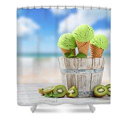Ice Cream At The Beach Shower Curtain
