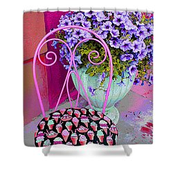 Ice Cream Cafe Chair Shower Curtain