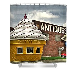 Ice Cream Shower Curtain by Jane Linders