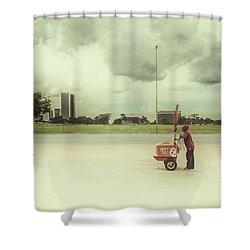Ice Cream Man Shower Curtain by Santiago Tomas Gutiez