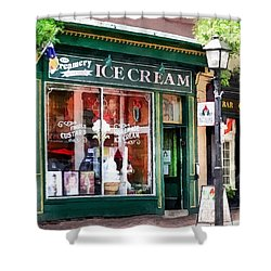 Alexandria Va - Ice Cream Parlor Shower Curtain