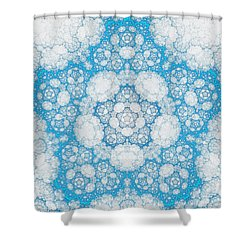 Shower Curtain featuring the digital art Ice Crystals by GJ Blackman