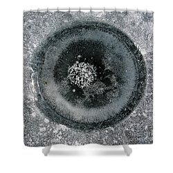 Ice Fishing Hole 9 Shower Curtain by Steven Ralser