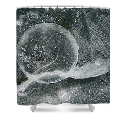 Ice Fishing Hole Shower Curtain by Steven Ralser