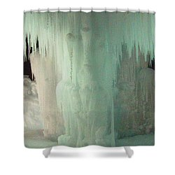 Ice Flow 22 Shower Curtain by Feile Case