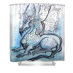 Ice Heart Shower Curtain by Koral Garcia