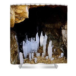 Ice In A Cave Shower Curtain