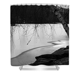 Shower Curtain featuring the photograph Ice Lake by Vadim Levin