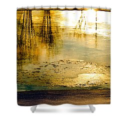 Ice On The River Shower Curtain by Bob Orsillo