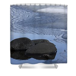Ice Out At Pumice Point Shower Curtain