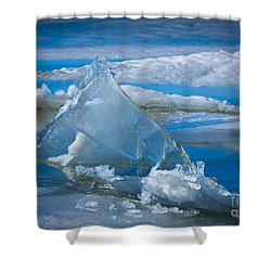 Ice Triangle Shower Curtain by Inge Johnsson