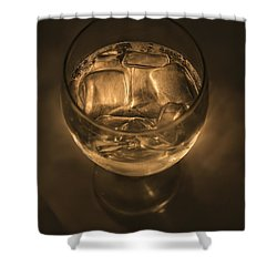Ice Water By Candle Light Shower Curtain by Angela A Stanton