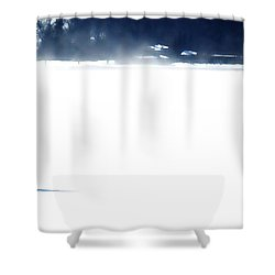 Ice Yachting Shower Curtain