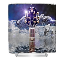 Shower Curtain featuring the digital art Iceberg Blues by WB Johnston