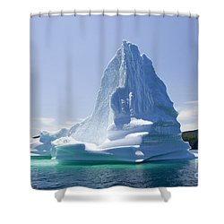 Shower Curtain featuring the photograph Iceberg Canada by Liz Leyden