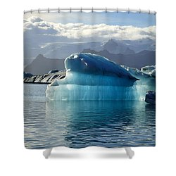 Iceberg Shower Curtain by Deborah Benbrook