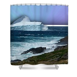 Iceberg Escape Shower Curtain by Barbara Griffin