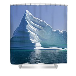 Iceberg Shower Curtain by Liz Leyden