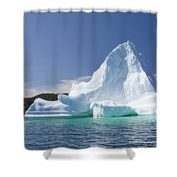 Shower Curtain featuring the photograph Iceberg Newfoundland Canada by Liz Leyden