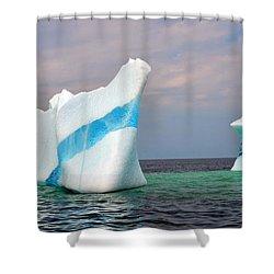 Iceberg Off The Coast Of Newfoundland Shower Curtain by Lisa Phillips