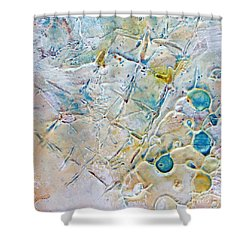 Shower Curtain featuring the mixed media Iced Texture I by Phyllis Howard