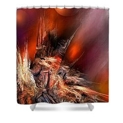 Icefire Shower Curtain by Francoise Dugourd-Caput