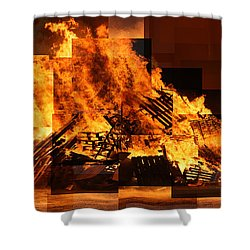 Iceland Bonfire Shower Curtain