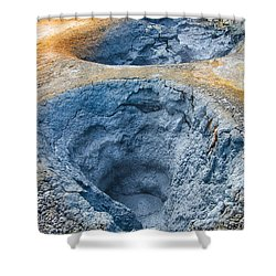 Iceland Natural Abstract Mudpot And Sulphur Shower Curtain by Matthias Hauser