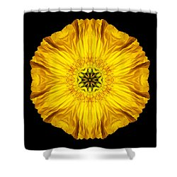 Iceland Poppy Flower Mandala Shower Curtain