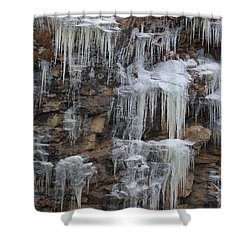 Icicle Cliffs Shower Curtain