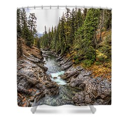 Icicle Gorge Shower Curtain