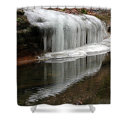 Icicle Reflection  Shower Curtain
