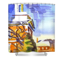 Icicles In The Sky Shower Curtain by Kip DeVore