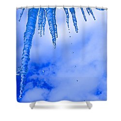 Icicles Melting Shower Curtain by Rita Mueller