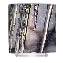 Shower Curtain featuring the photograph Icicles  by Yulia Kazansky