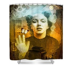 Icon Shower Curtain by Mo T