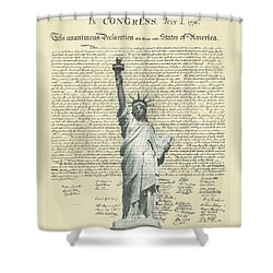 Icon Of Freedom Shower Curtain by Charles Beeler